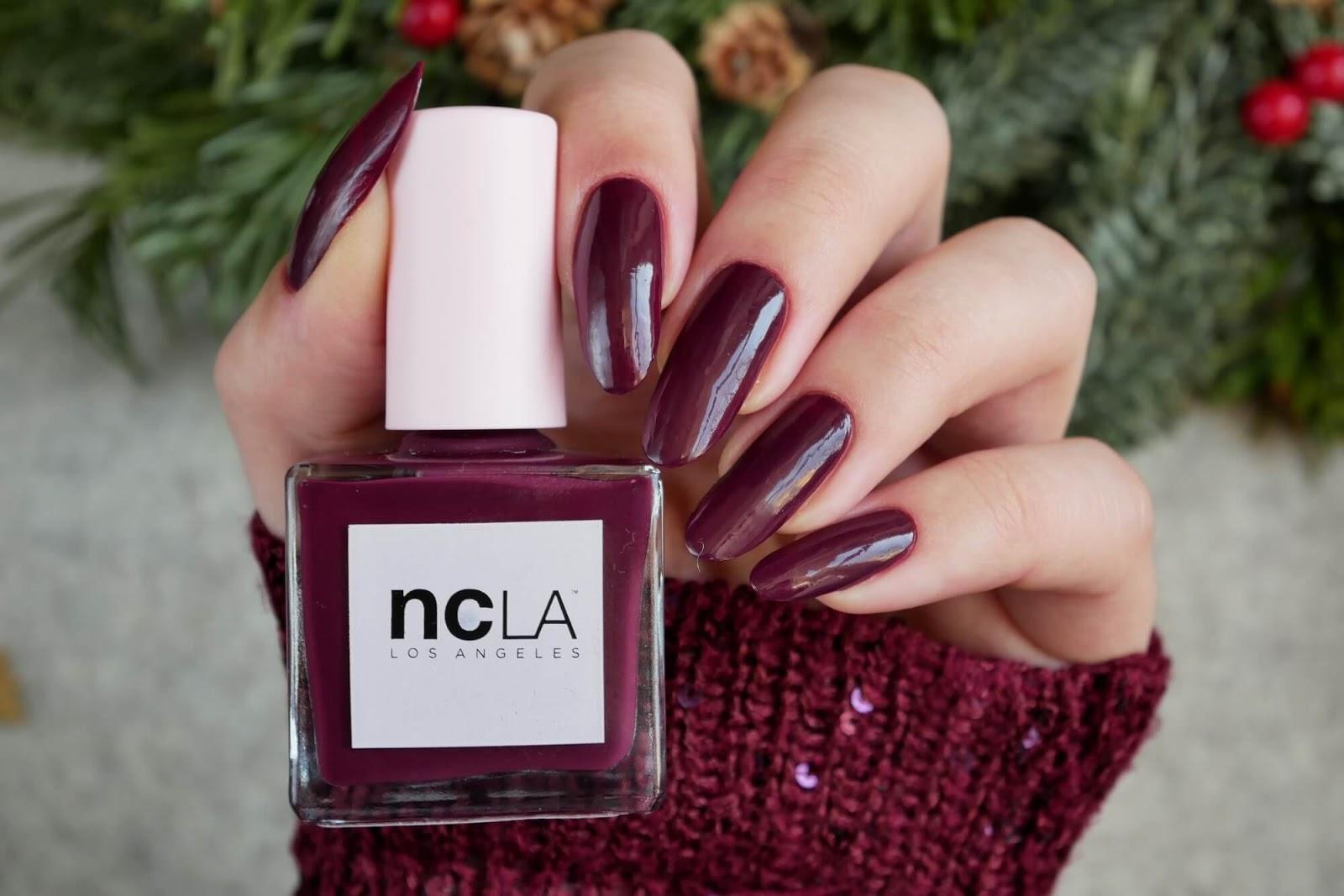bordowe paznokcie NCLA