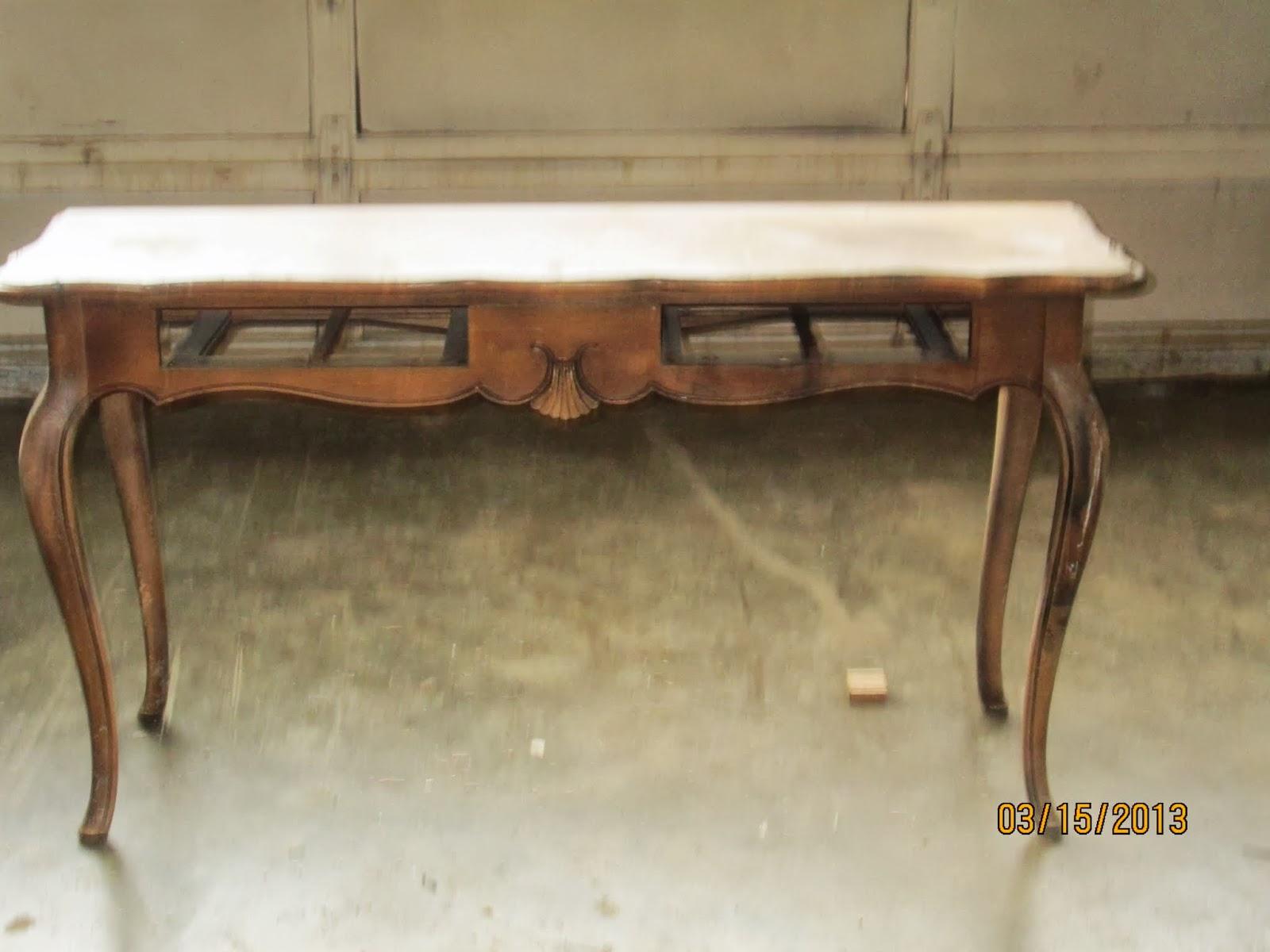Barrow Sofa Table Burgundy Leather Sleeper Ethan Allen Tables Used 89 95