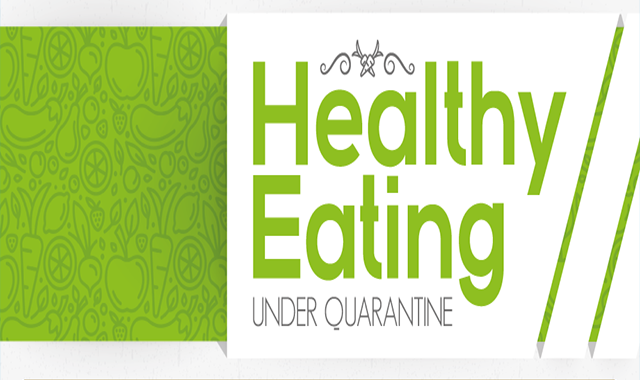 Healthy Eating Under Quarantine #infographic
