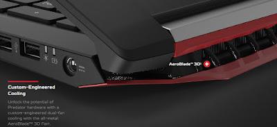 acer predator 3D fan aeroblade 3d