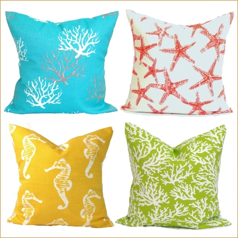Coastal Beach Pillow Covers