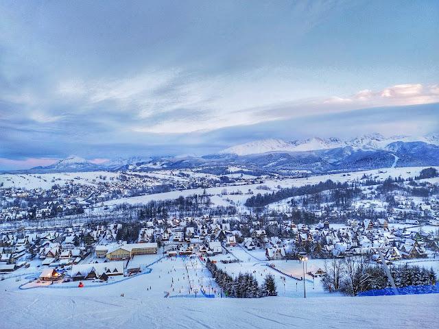 panorama na Tatry, punkt widokowy Zakopane, Harenda