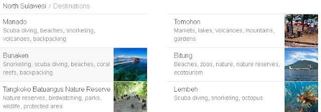 tempat wisata di daftar kabupaten dan kota di provinsi sulawesi utara