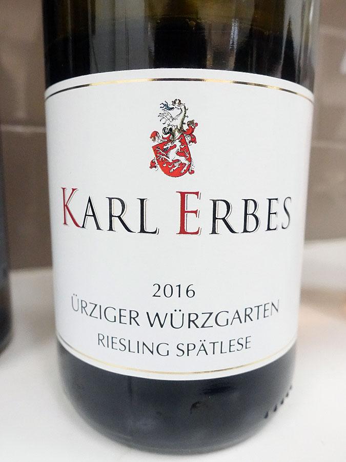 Karl Erbes Ürziger Würzgarten Riesling Spätlese 2016 (90+ pts)