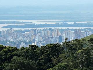 Centro de Porto Alegre, Rio Jacuí, Rio dos Sinos e Ponte do Guaíba