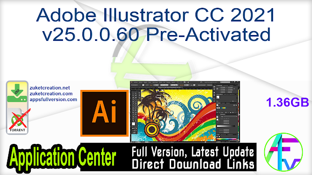 Adobe Illustrator CC 2021 v25.0.0.60 Pre-Activated