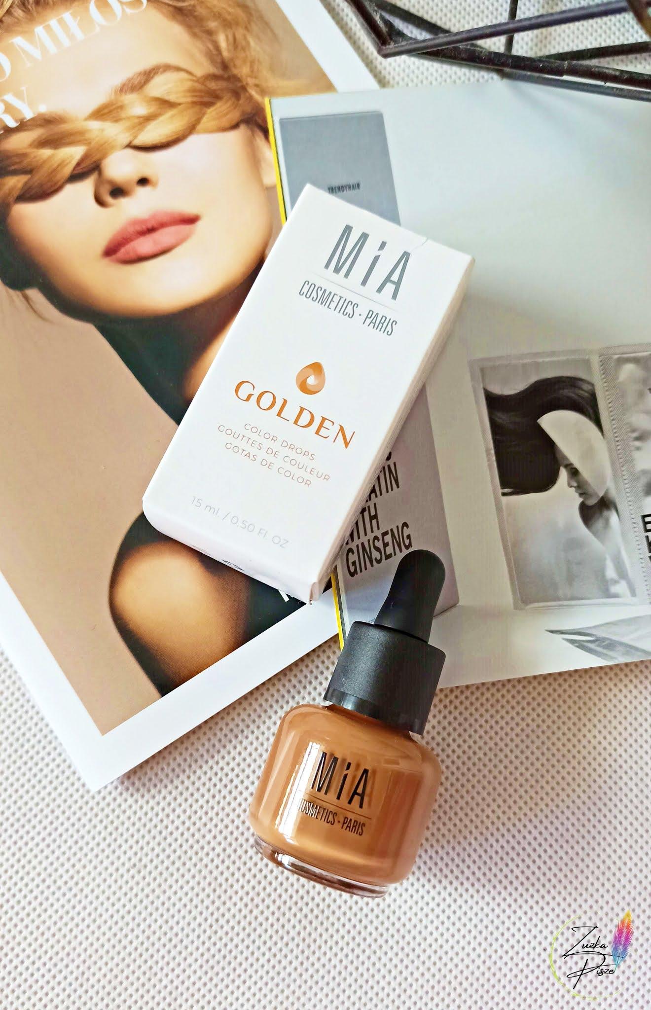 MIA COSMETICS Golden Colour Drops - Koloryzujące krople do konturowania twarzy na mokro