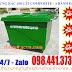 Thùng rác composite 660 lít 3-4 bánh đặc
