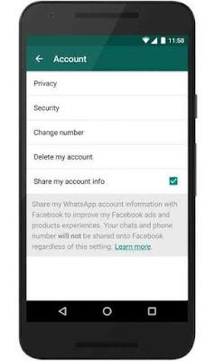 الواتساب يشارك بياناتك الشخصية مع الفيس بوك