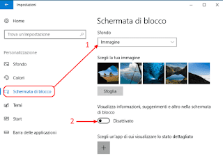 Windows 10 - Schermata di blocco