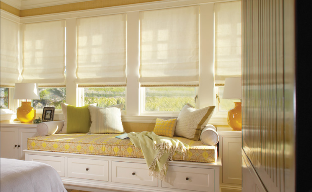 Window Seats Look Great With Roman Shades