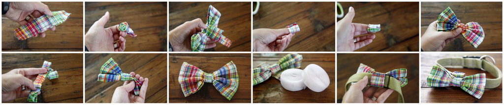 Dalmatian DIY: DIY Easy Sew Over-the-Collar Bow Tie for Dogs