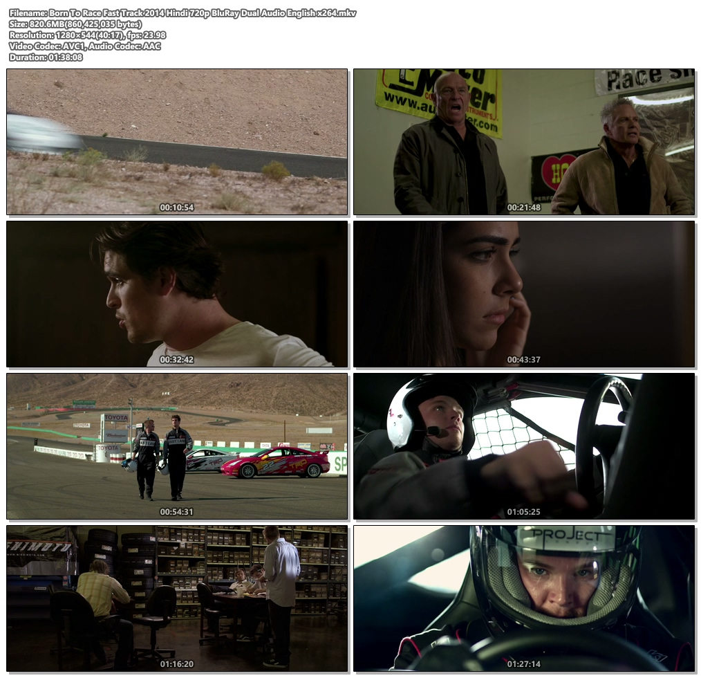 Born To Race Fast Track 2014 Hindi 720p BluRay Dual Audio English | 480p 300MB | 100MB HEVC Screenshot