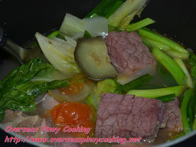 Sinigang na Corned Beef - Cooking Procedure