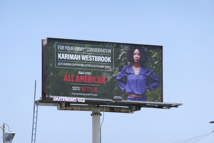 Karimah Westbrook All American 2020 Emmy FYC billboard