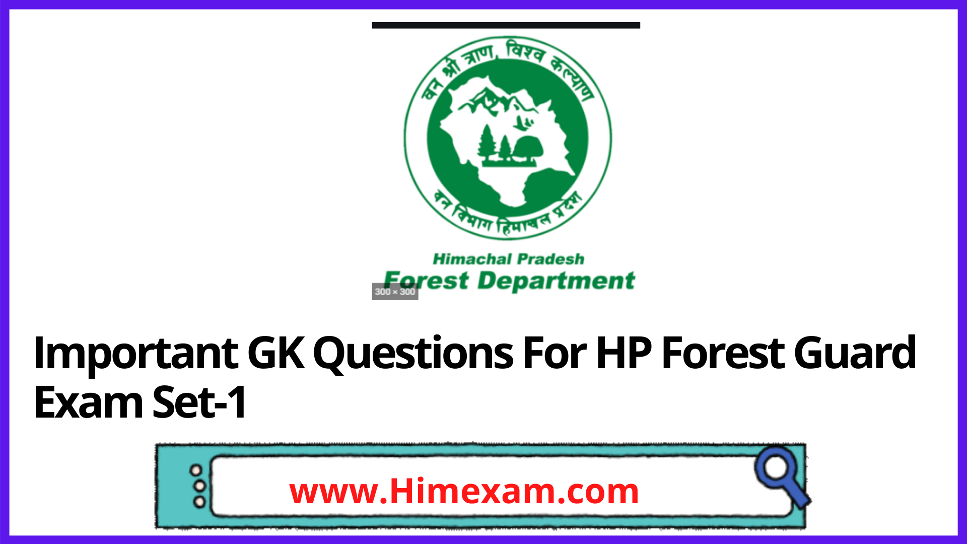 Important GK Questions For  HP Forest Guard Exam Set-1