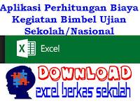 Aplikasi Perhitungan Biaya Kegiatan Bimbel Ujian Sekolah/Nasional Lengkap Format Excel