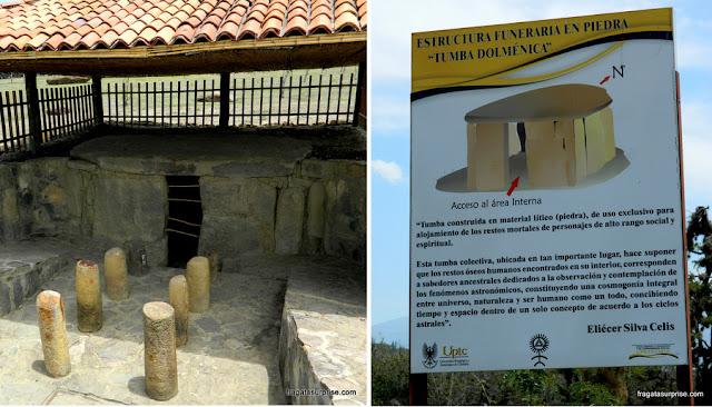 Tumba Dolmênica no O Observatório Astronômico de Monquirá, ou El Infiernito, Villa de Leyva, Colômbia