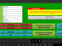 Aplikasi Daftar Hadir Guru Otomatis Format Excel