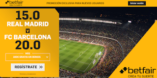Betfair Supercuota Liga Real Madrid vs Barcelona 1 marzo 2020