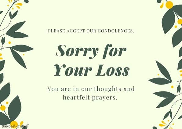 condolences message for loss of father