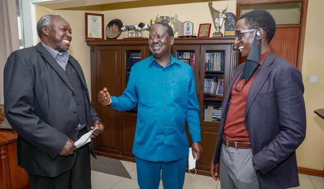 ODM leader Raila Odinga and Uasin Gishu Businessman Zedekia alias BUZEKI photo