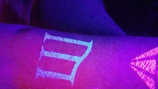 Custom Glitter Tattoo Glowing Mercury Lounge