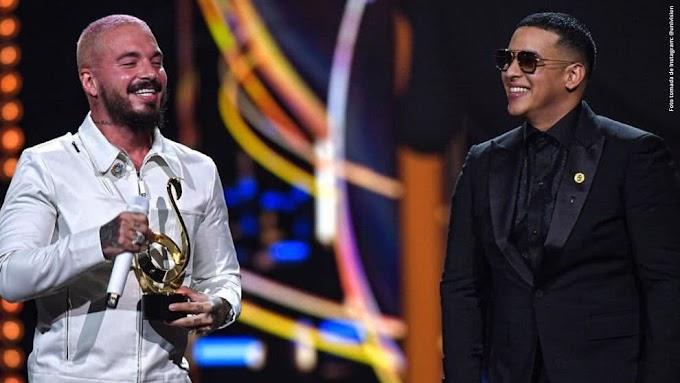 Daddy Yankee galardona a J Balvin como Ícono Mundial