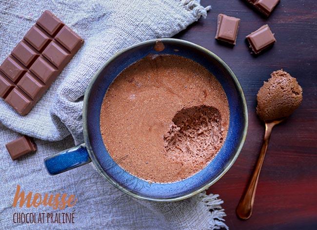 recette mousse chocolat praliné
