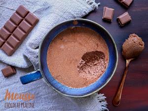Mousse au chocolat et praliné
