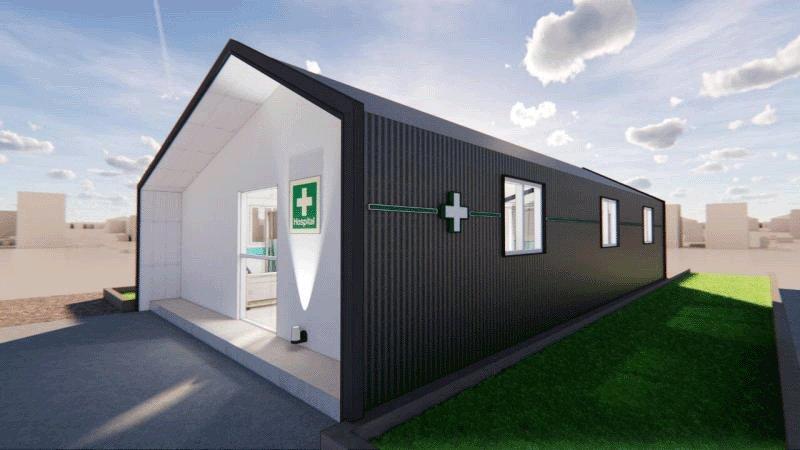 Construcción y desarrollo inmobiliario donan módulos de emergencia a hospitales