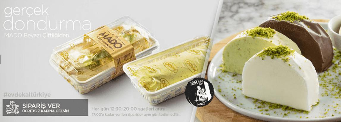 mado menü fiyat listesi kampanya fırsat gerçek dondurma siparişi