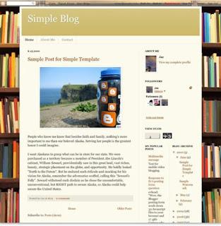 contoh template bawaan blogspot