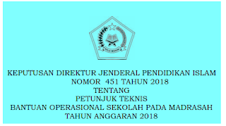 Juknis BOS Madrasah Tahun 2018