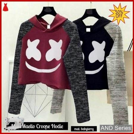 AND096 Baju Atasan Wanita Kaos Marshmello Crope BMGShop