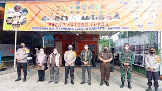 M.Fadhil Arief Mendampingi Kapolda Jambi Dalam Kunjungan BPBD Batang Hari
