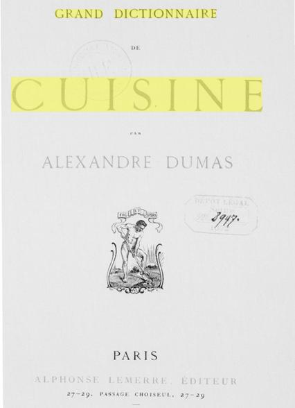 Behind the french menu soupe l 39 oignon french onion for Alexandre dumas grand dictionnaire de cuisine