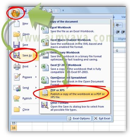 Cara Membuat File Pdf Dari Worksheet Excel Cara Aimyaya Cara Semua Cara