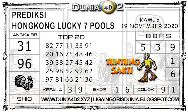 Prediksi Togel HONGKONG LUCKY7 DUNIA4D2 19 NOVEMBER 2020