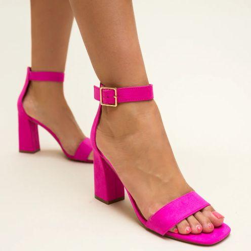 Sandale roz de vara cu ocul gros