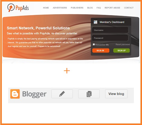Popads.net Code to Blogger