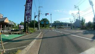 国道171とのY字交差点
