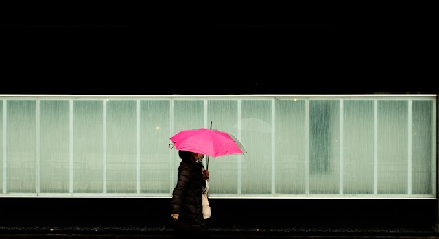 The romance picture in the rainy season of Japan and the culture of Umbrella