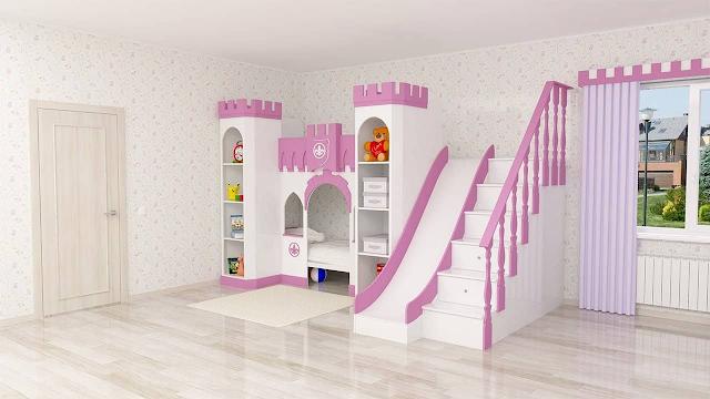 giường tầng thiết kế lâu đài