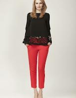 Pantaloni femei, rosii, conici, Moja (Moja)