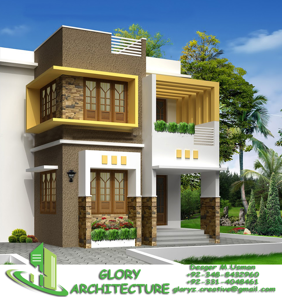 House Plan Elevation View : House plan elevation d view drawings pakistan