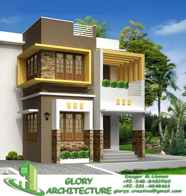 Front Elevation 30 60 : House plan elevation d view drawings pakistan