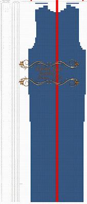 Попетельная раскладка спинки свитера