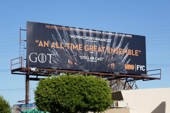 Game of Thrones final season SAG Awards billboard