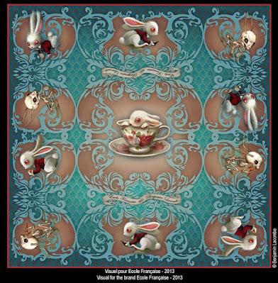 Benjamin Lacombe ilustración Conejo Alicia